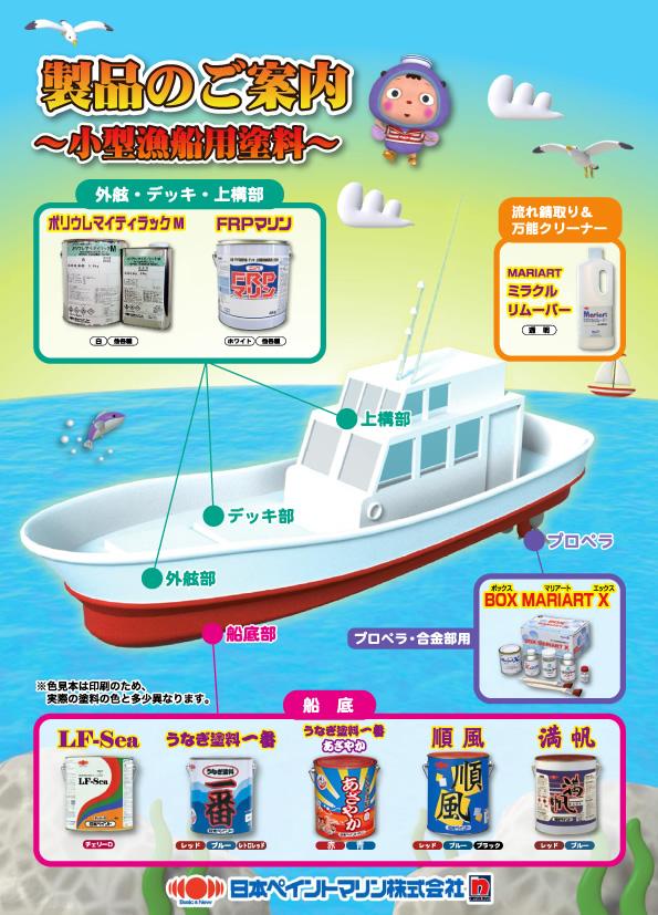 日本ペイント 小型漁船用塗料 一覧