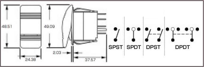 防水ロッカースイッチ